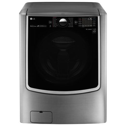 LG 6.0 Cu. Ft. Front Load Washer (WM9000HVA) - Silver