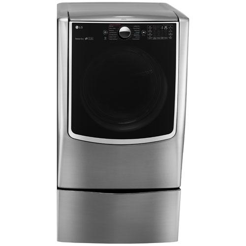 lg 90 cu ft electric steam dryer dlex9000v graphite steel