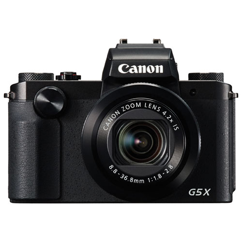Canon PowerShot G5 X Wi-Fi 20.2MP 4.2x Optical Zoom Digital Camera - Black