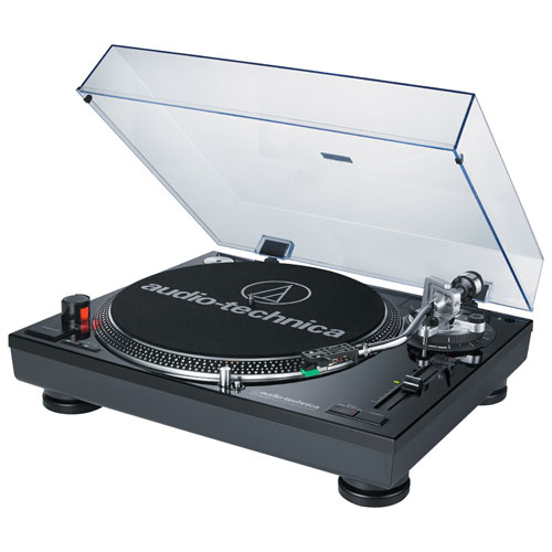 Audio-Technica Direct Drive Professional Turntable with USB Port (ATLP120BKUSB)