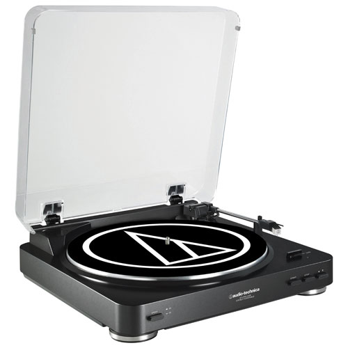 Audio-Technica LP60 Fully Automatic Belt-Drive Stereo Turntable with USB Port - Black