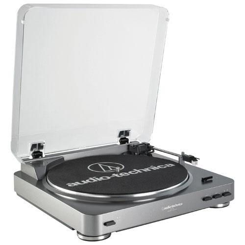 Tourne-disque stéréo entièrement automatique à entraînement par courroie LP60 d'Audio-Technica