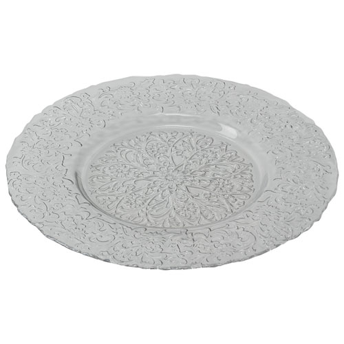 Brilliant Glass Charger Plate - Clear
