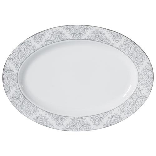 Brilliant Ritz Porcelain Platter - White/Platine