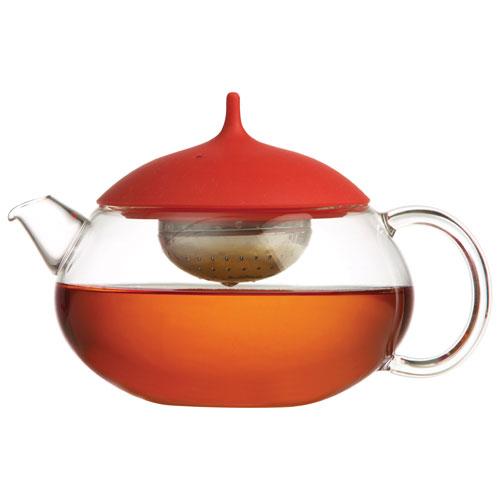 Théière Jasmine de 600 ml de Brilliant - Transparent - Rouge