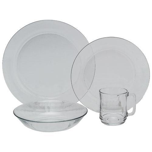 Service de vaisselle de 24 pièces Lys Clear de Duralex - Transparent