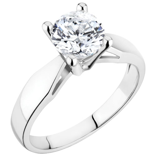 Heritage Classic 14K White Gold With Clear Round 016 018ctw I1 I2 Solitaire Diamond Engagement Ring