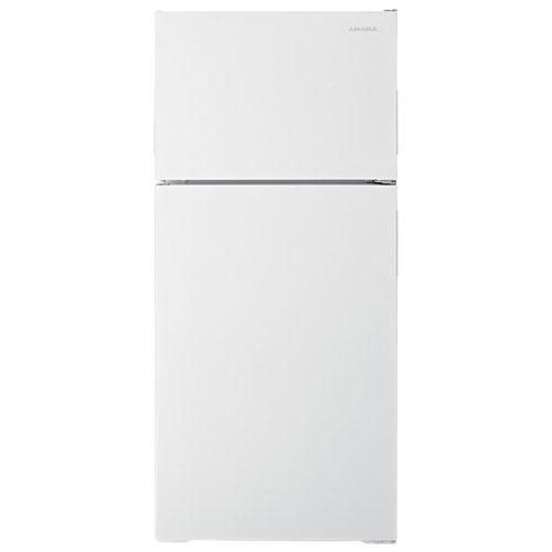 Réfrigérateur à congélateur supérieur 14,3 pi3 28 po d'Amana - Blanc