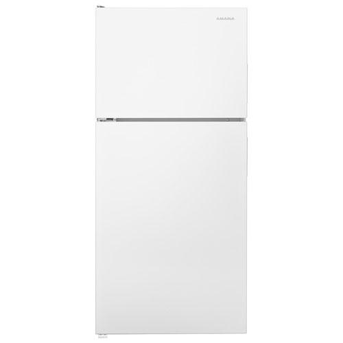Réfrigérateur à congélateur supérieur 18,1 pi3 30 po d'Amana - Blanc