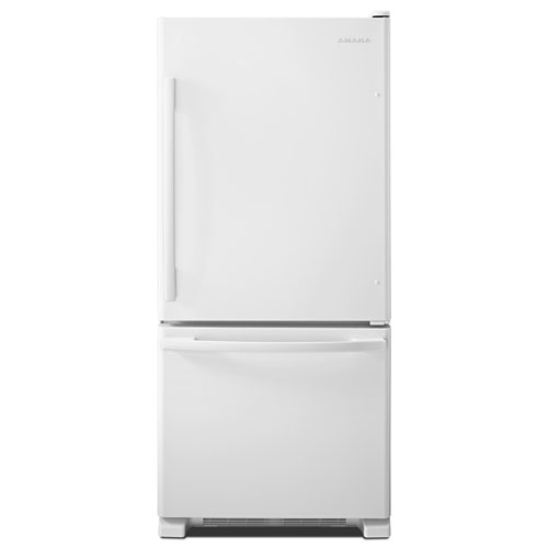 "Amana 30"" 18.7 Cu. Ft. Bottom Freezer Refrigerator - White"