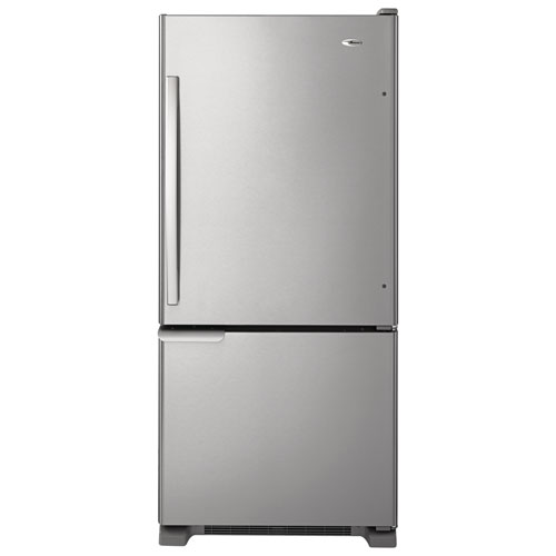"Amana 30"" 18.7 Cu. Ft. Bottom Freezer Refrigerator - Stainless Steel"