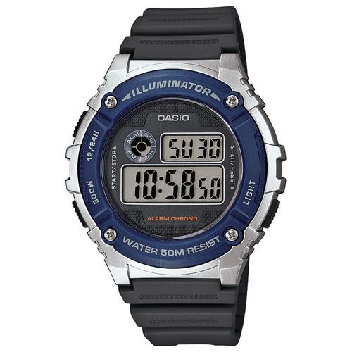 Montre sport numérique de Casio - Bleu/noir