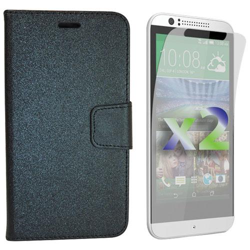Exian HTC Desire 510 Wallet Folio Case - Black