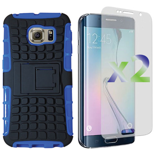 Exian Samsung Galaxy S6 Edge Fitted Hard Shell Case - Blue