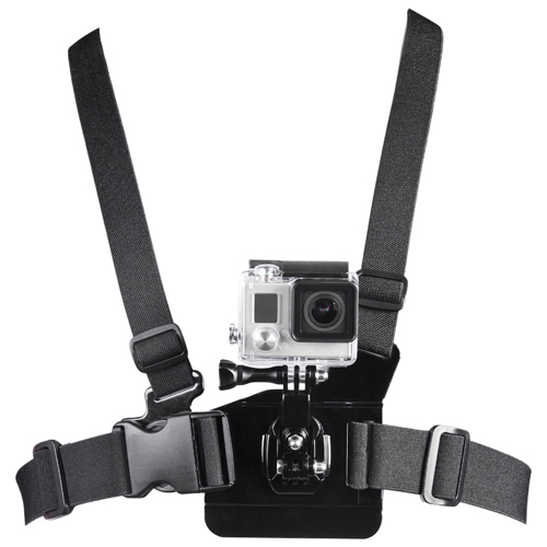 Courroie de poitrine de la série Xtreme Action de Bower pour caméra GoPro (XAS-CBS) - Noir