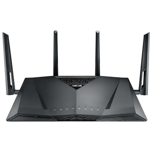 ASUS AC3100 4x4 Wireless Dual-Band 4-Port Gigabit Gaming Router with AiProtection (RT-AC3100)