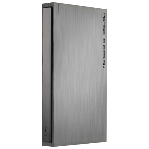 "LaCie Porsche Design 2TB 2.5"" USB 3.0 Portable External Hard Drive (LAC9000459) - Grey"