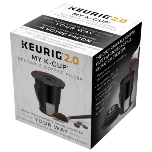 keurig 2.0 my k-cup reusable coffee filter - black | best buy canada