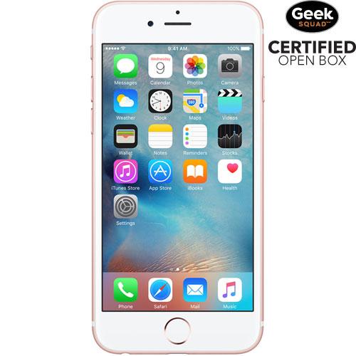iPhone 6s de 128 Go d'Apple - Rose doré - Carte SIM verrouillée par fournisseur - Boîte ouverte