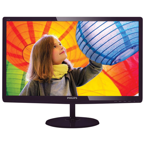 "Philips 27"" 5ms GTG IPS LED Monitor (277E6QDSD) - Black Cherry"