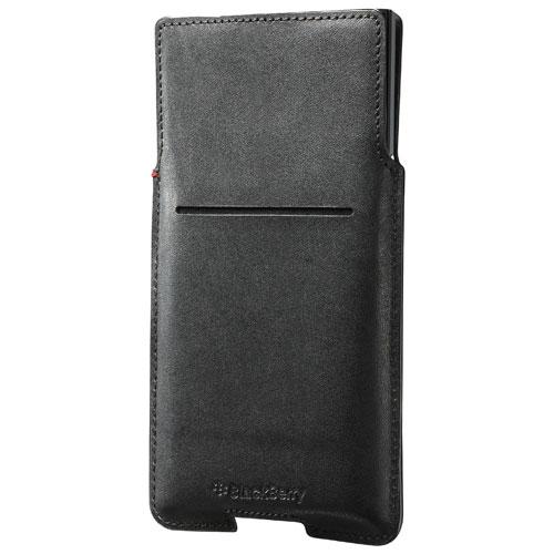 BlackBerry PRIV Leather Pocket Case - Black