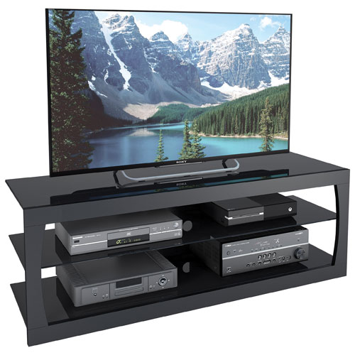 "CorLiving Santa Lana 65"" TV Stand - Black Matte"