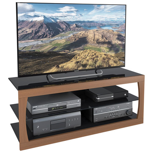 "CorLiving Santa Lana TV Stand for TV's Up To 60"" (TSL-123-T) - Faux Teak"