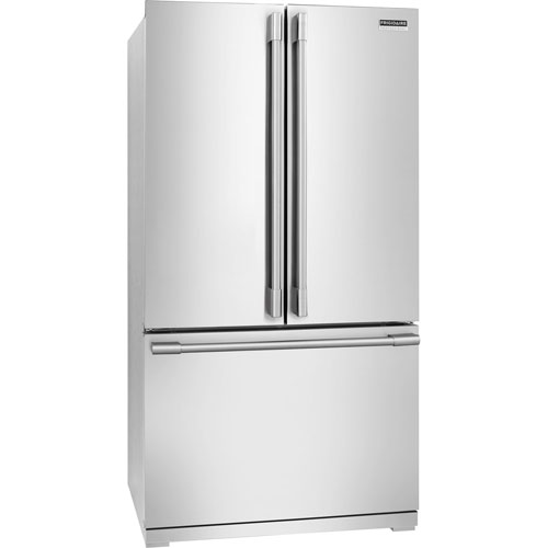 "Frigidaire Pro 36"" 22.6 Cu. Ft. Counter-Depth French Door Refrigerator - Stainless Steel"