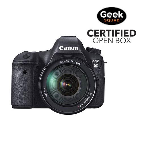 Appareil photo reflex numérique EOS 6D de Canon avec objectif IS USM 24-105 mm - Boîte ouverte