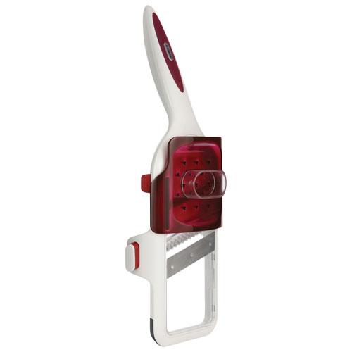Zyliss 2-in-1 Handheld Mandoline Slicer (Z11960) - White/Red