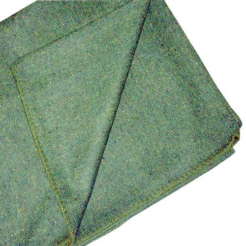 Couverture en mélange de laine de World Famous - Vert