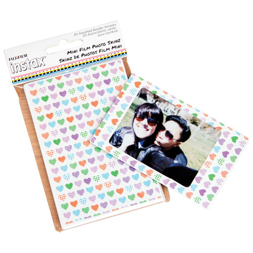 Fujifilm Instax Mini 8 Frame Skinz - 20 Pack - Assorted Designs