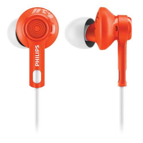 Philips ActionFit In-Ear Sound Isolating Sport Headphones - Orange