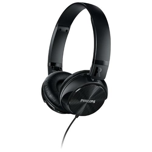 Philips On-Ear Noise Cancelling Headphones - Black