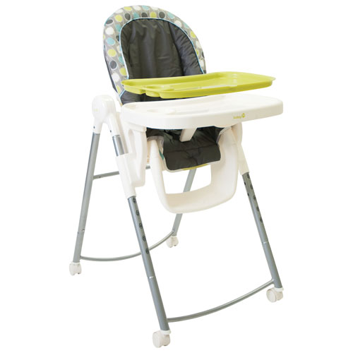 Safety 1st Aqueous Adjustable High Chair Grey Lime Green
