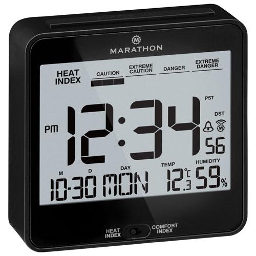 Marathon Atomic Auto Night Digital Tabletop Clock   Black