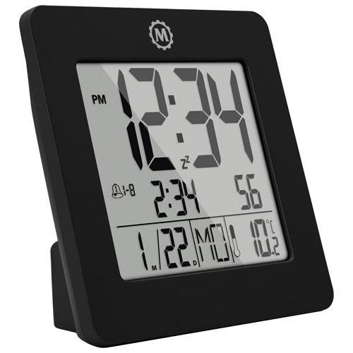 Marathon Digital Tabletop Clock   Black