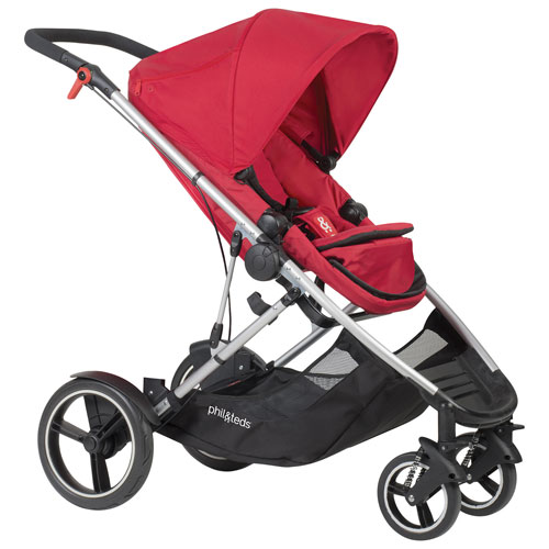 phil&teds Voyager Inline Stroller - Cherry