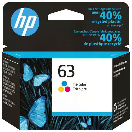 Encre tricolore 63 de HP (F6U61AN#140)
