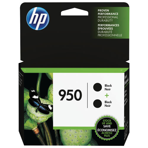 HP 950 Black Ink 2-Pack (L0S28AN#140)