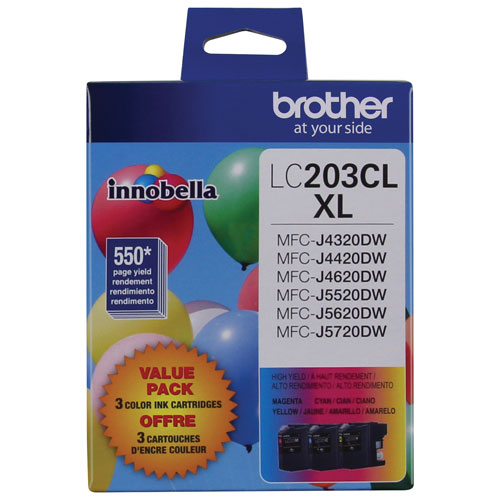 Brother Innobella High Yield Colour Ink (LC2033PKS)