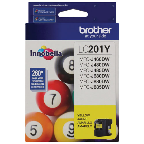 Brother Innobella Yellow Ink (LC201YS)