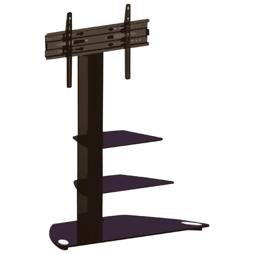 "TygerClaw TV Stand with 32"" - 65"" Fixed Motion TV Mount (LCD8221BLK) - Black"