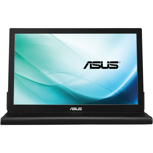 "ASUS 15.6"" 14ms GTG IPS Portable LED Monitor (MB169B+) - Silver/Black"