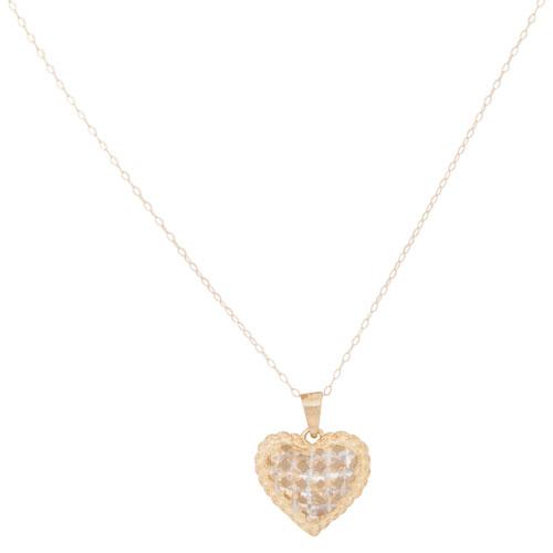 Collier en or 10 ct avec pendentif en forme de coeur de Le Reve