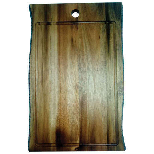 Brilliant Organic Acacia Wood 2-Sided Cutting Board - Large