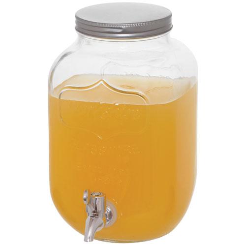 Brilliant 3.8L Mason Jar Drink Dispenser - Clear