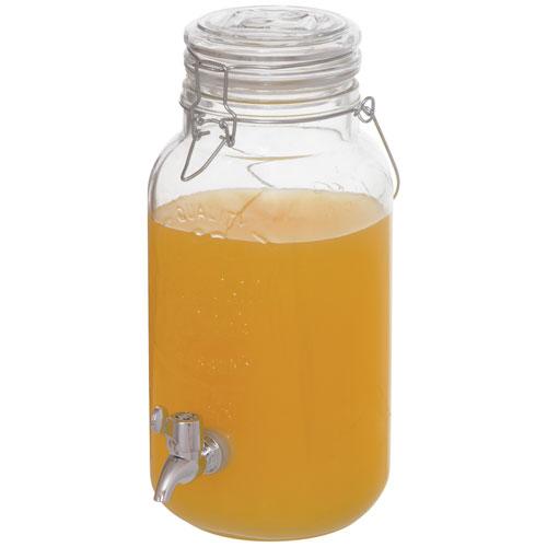 Pot Mason distributeur de boissons de 3,8 l de Brilliant - Transparent