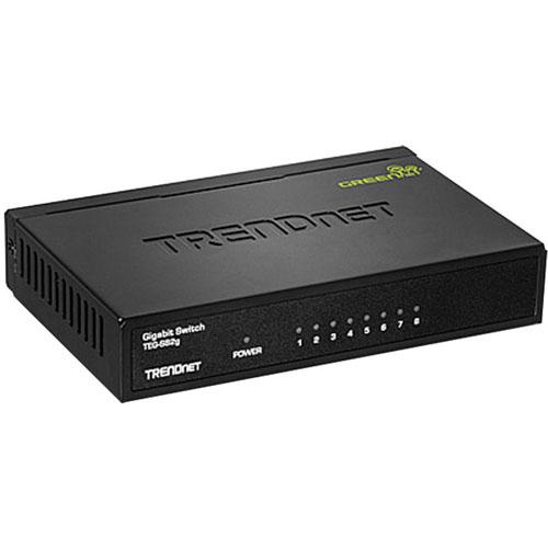 Commutateur à 8 ports Gigabit 16 Gbit/s de TRENDnet (TEG-S82G)