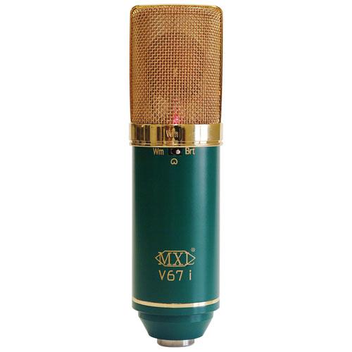 Microphone à lampe et à condensateur avec deux diaphragmes V67I de MXL